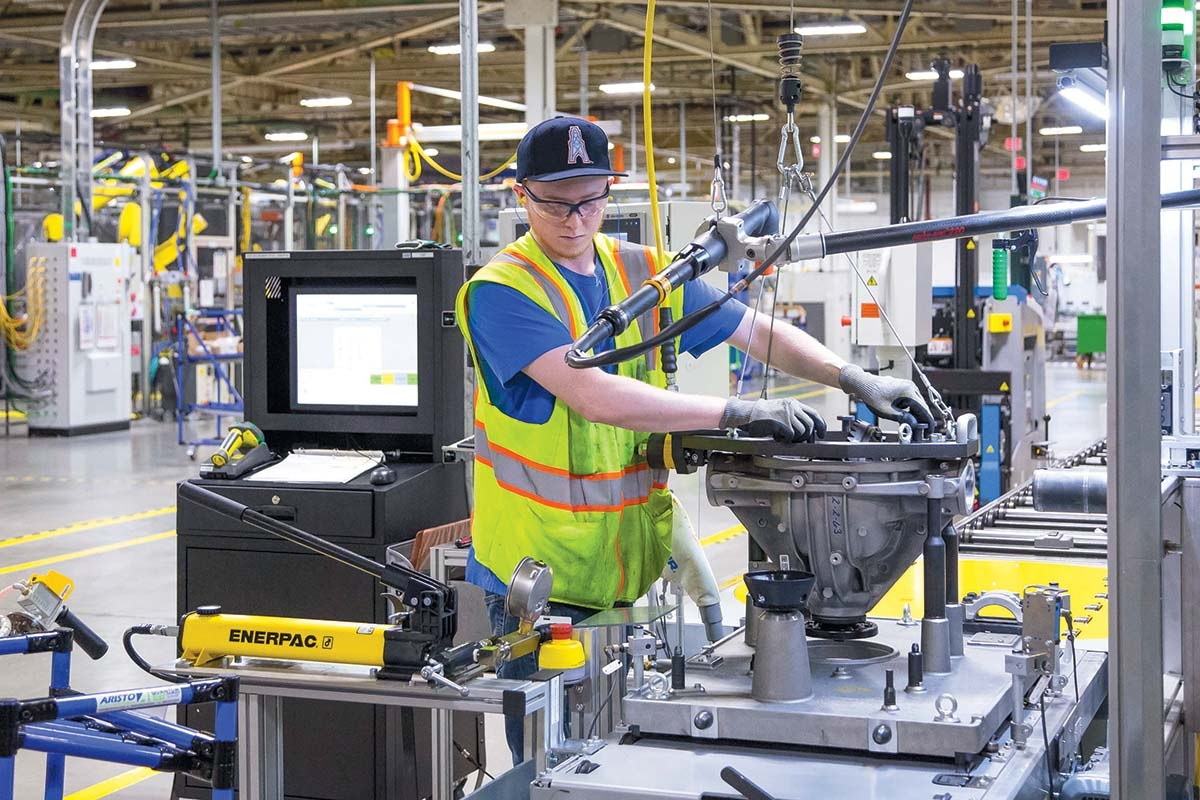 General Motors Components Holdings produces a variety of precision-machined automotive engine components at its plant in Wyoming, Mich.