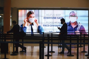 """The Gerald R. Ford International Airport's """"Fly Safe. Fly Ford."""" program includes new cleaning protocols, restrictions on person-to-person contact and upgraded HVAC equipment for better air quality."""