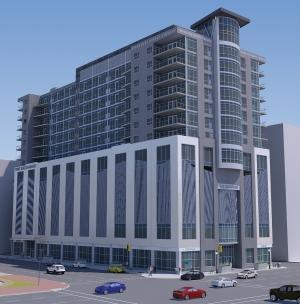 The proposed $52.7 million Exchange Building in downtown Kalamazoo needed to grow in size and scale to make its numbers work. But now that the development partners have secured necessary financing, the mixed-use project with planned high-end apartments, offices and commercial space could break ground later this year.
