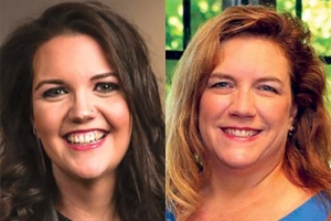 Left: Bridget Clark Whitney, founding CEO of Kids' Food Basket, right: Heather Eddy, president and CEO of Kistner Eddy Executive Services