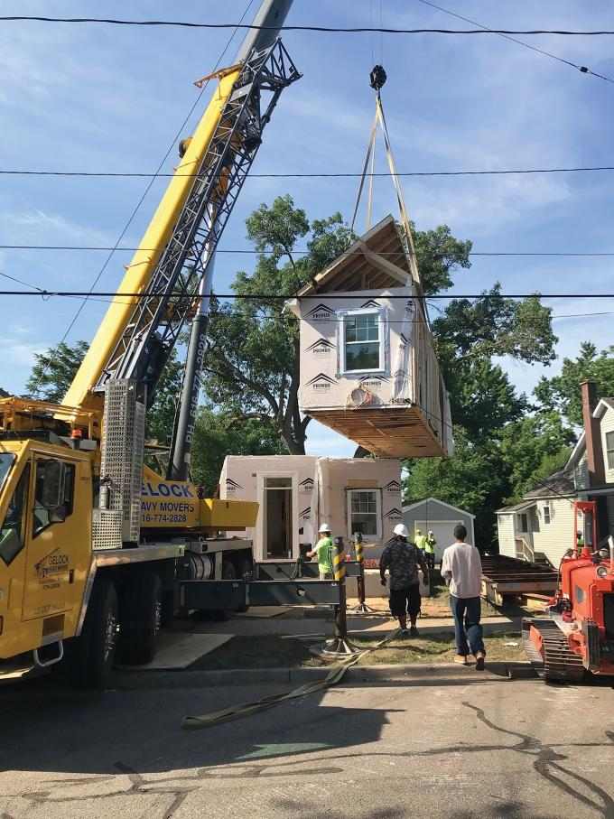 Kent County Land Bank, which recently rebranded as Innova-Lab, has started developing modular housing on locations it owns throughout the greater Grand Rapids area.