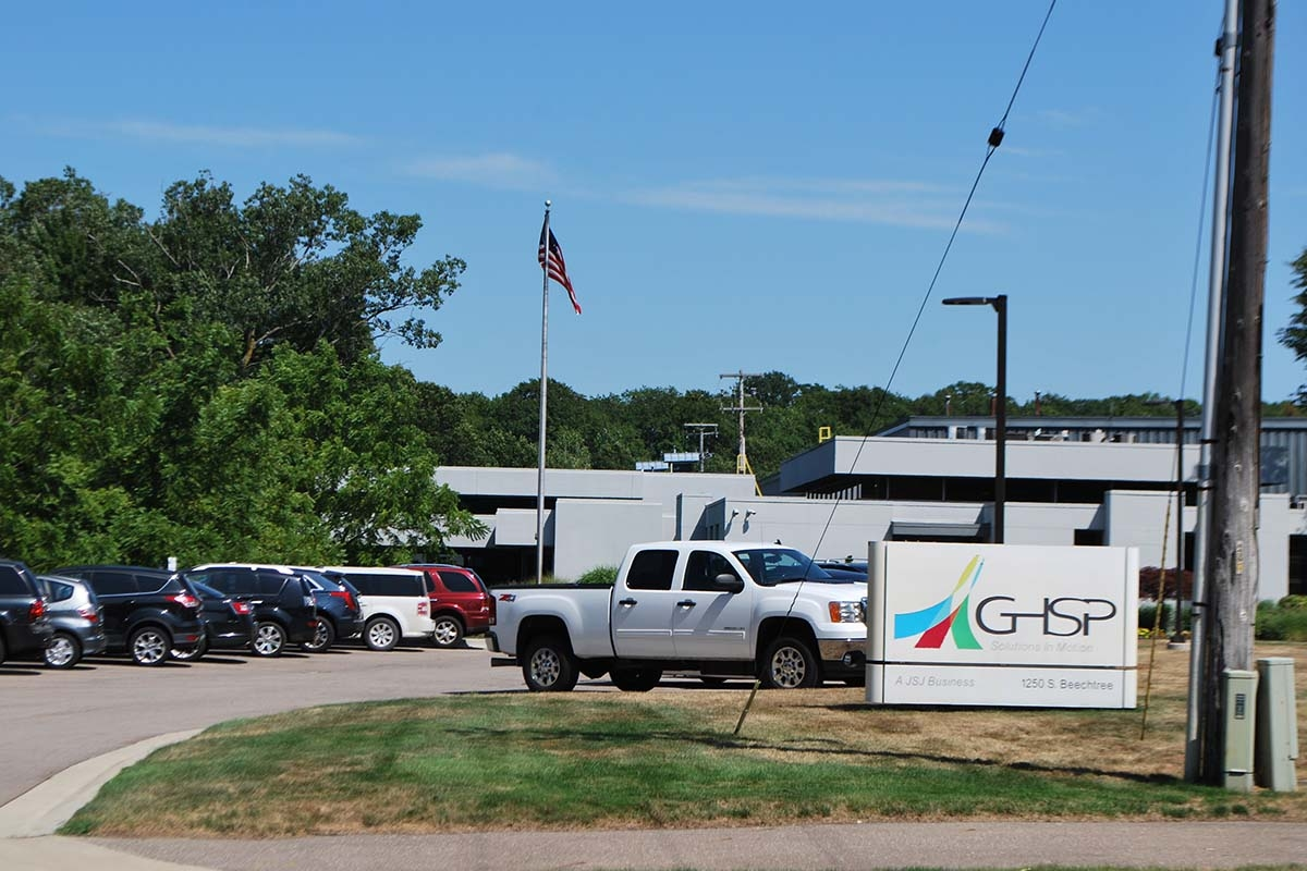 GHSP is moving its headquarters and validation labs from its current location in Grand Haven, shown here, to the Holland Technical Center at South Waverly Road and East 32nd Street.