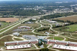Aerial view of WMU's Business Technology and Research Park.