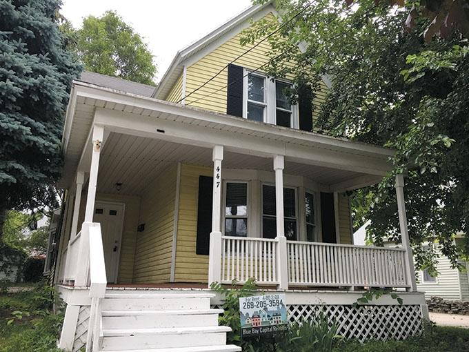 Chicago-based RDG wants to sell the 177-property portfolio of residences it owns in West and Mid-Michigan, including this house on Quimby Street NE in Grand Rapids. Inner City Christian Federation, a Grand Rapids-based nonprofit housing developer, is negotiating to buy the portfolio in a deal some sources said was valued at $16 million to $20 million.