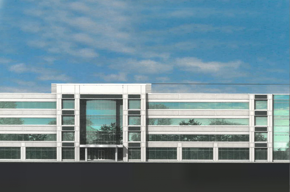 """Glenwood Development Partners submitted this rendering of a proposed new headquarters for """"a global corporation"""" to locate 670 people to an undeveloped site in Cascade Charter Township."""
