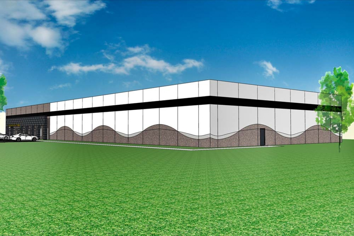 A rendering indicates how US Signal's planned data center in Van Buren Township could look.