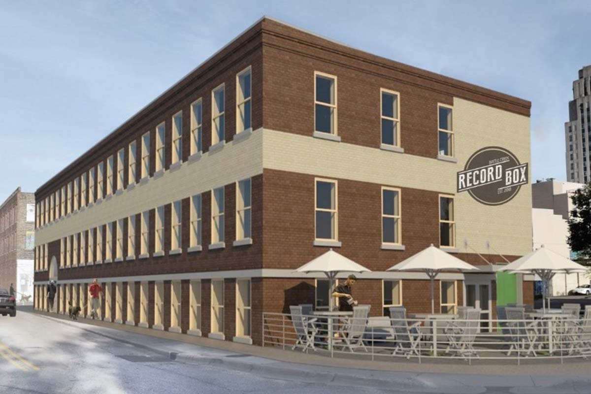 Restore 269 LLC's plans to redevelop a historic three-story building in downtown Battle Creek for a brewery and taproom on the first floor, a technology office with a web design company and shared work space on the second floor, and an event space on the third floor.