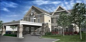 Rendering by Dixon Architecture of Spectrum Health Integrated Care Campus in Ada.