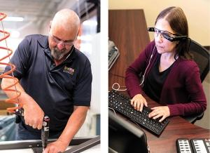 The nonprofit Midwest Enterprises for the Blind Inc. employs 25 people — the majority of whom are legally blind — and produces a range of products that it sells via the federal government's AbilityOne program.