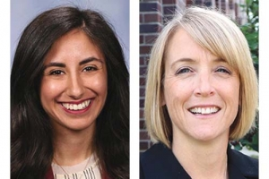 Left: State Rep. Mari Manoogian, right: Wendy Block, vice president of business advocacy for the Michigan Chamber