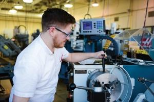 Kalamazoo Valley Community College has invested in new manufacturing equipment to train stu- dents on machining, 3-D printing, injection molding and other technologies.