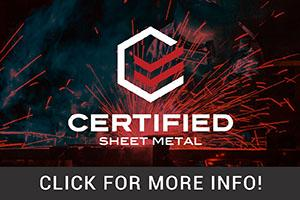 Certified Sheet Metal 2018 ROS Rectangle Ad