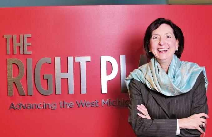 The Right Place President and CEO Birgit Klohs