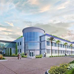 Rendering of Amway's Buena Park, Calif. manufacturing and R&D center.