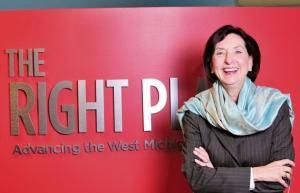 Birgit Klohs, president and CEO of The Right Place Inc.
