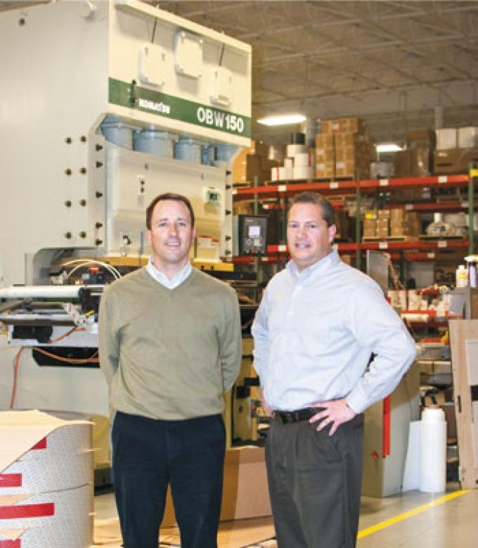 Jon Rudolph, left, and Don Armbrester, right, of Action Fabricators. The company recently sold to Modesto, Calif.-based Boyd Corp., a portfolio company of Genstar Capital.