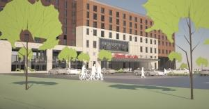 Third Coast Development's $30 million Hampton Inn & Suites project in the Mid Towne Village development on Michigan Street is expected to break ground in mid-April.