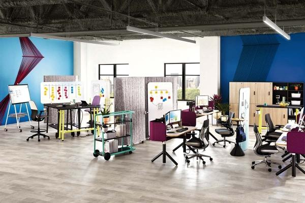 New office furniture products fit spaces to workers' needs, movements