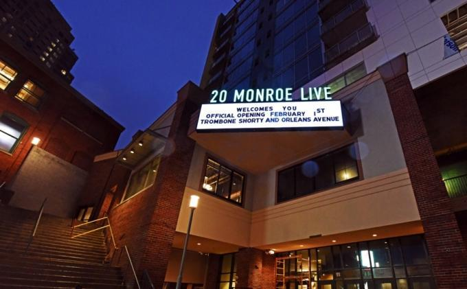 Concept Design worked on 20 Monroe Live, a downtown Grand Rapids concert venue.