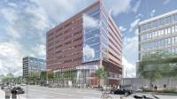 Rendering of the resdesign project for the Calder Plaza Building at 250 Monroe Ave. in Grand Rapids.