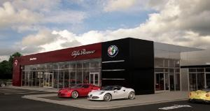 Rendering of new Snethkamp Fiat/Alfa Romeo dealership to be built in Lansing.