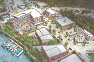 A vision for the Spirit of the Woods Manistee Gateway Project presented to city officials in September.