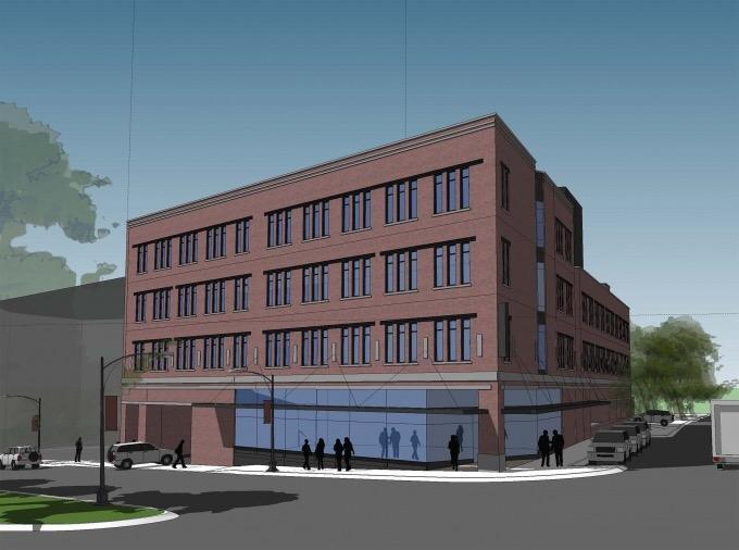 Plans for heritage hill apartment and retail building move for Grand rapids architecture firms