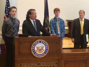 Gary Peters announces new legislation to access federal funding for concurrent, dual enrollment programs.