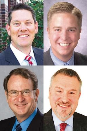 James Holcomb, Michigan Chamber of Commerce (top left); Andy Johnston, Grand Rapids Chamber (top right); Charles Ballard, Michigan League for Public Policy (bottom left); Charles Owens, National Federation of Independent Business (bottom right)