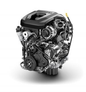 General Motors first offered a 4-cylinder Duramax diesel engine, shown here, in its midsize Colorado pickup. The upcoming Silverado model will be the first light-duty full-size pickup in a generation to offer a diesel option.