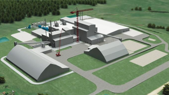 Michigan Potash Co.'s proposed $700 million facility, pictured, would drill wells deep underground and use a water solution to bring the potash to the surface for processing. Potash, shown at right, is used across the globe as a key nutrient for crops.