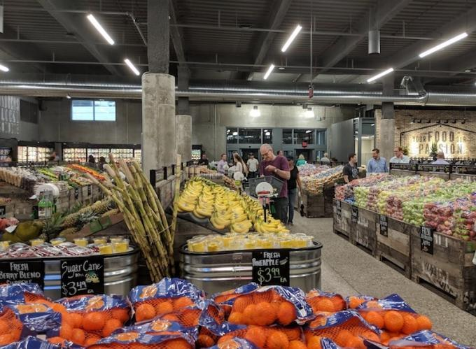 Meijer opened its new Bridge Street Market today in Grand Rapids' West Side neighborhood.