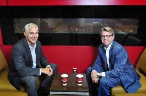 CFO and COO Gary Rose, left, and CEO Robert Schermer, Jr. of Meritage Hospitality