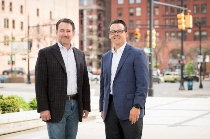 Michael Brom, left, and Jason Byrd, right, confirmed to MiBiz that their Concurrence Capital Holdings LLC closed on its first investment in a deal involving Mission Design & Automation.
