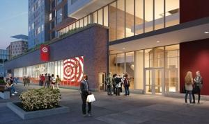 Target is planning a small-format grocery store, as shown in the rendering, near Michigan State University's campus in East Lansing.