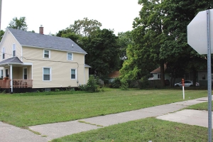 The vacant lot 935 Kalamazoo Ave. SE, near the Madison Area Neighborhood of Grand Rapids, is among 67 foreclosed properties that will be available for local housing nonprofits to purchase and redevelop following recent action by the Grand Rapids City Commission.