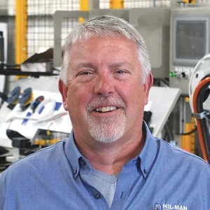 Tim Boeve, president and owner of Zeeland-based Hil-Man Automation LLC, views automation as a key option for manufacturers to address social distancing concerns on their shop floors.