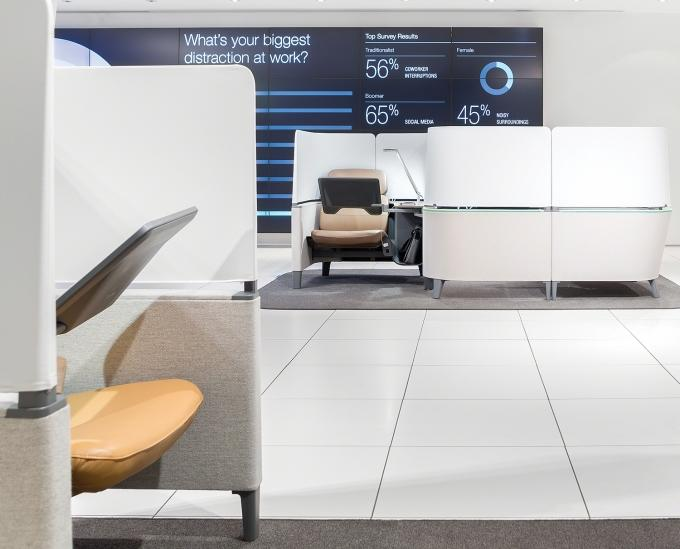 "Steelcase Inc.'s Brody WorkLounge is designed ""for the brain and the body"" and uses advanced ergonomics. The product offers heated seating and back surfaces."