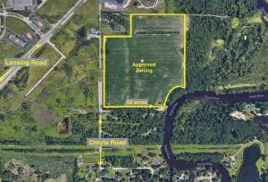 Harvest Park Development LLC plans to develop a 130-acre site in Windsor Township, west of Lansing, for companies licensed to operate in the medical marijuana industry.