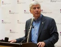 Gov. Snyder urges private sector leaders to work with public sector on cultivating talent