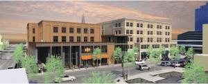 New Holland Brewing Co. and Rockford Construction are partnering on a $17 million mixed-use project in the west side neighborhood of Grand Rapids at the site of a former lingerie store and adult shop.