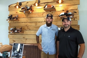 Cedar Run Decoy founders Corey Lucas, left, and Boyd Culver, right, formed their own company to produce traditional waterfowl gear not found in stores today.
