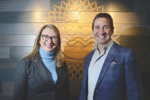 Waséyabek Development Co. President and CEO Deidra Mitchell (left) and Gun Lake Investments CEO Kurtis Trevan.