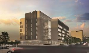 Michigan State University plans to build the $88.1 million Grand Rapids Research Center at the northeast corner of Michigan Street and Monroe Avenue in the city's downtown. Rockford Construction and Clark Construction created a joint venture to provide construction management services for the project.