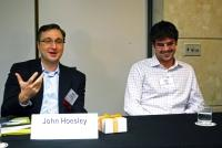 John Hoesley and Sam Hogg take part in presentation at MichBio.