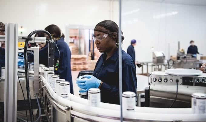 La Colombe Coffee Roasters employs about 120 people in Norton Shores, where it opened a facility in 2017 to make its canned draft latte product.