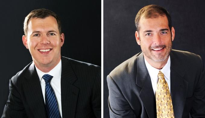 Mike Brown (left) and Andrew Williams became part of the Charter Capital Partners' leadership team and share management and staff development responsibilities as owners and partners.
