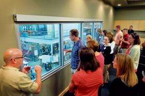 Teachers from the Ottawa Area Intermediate School District visit Primera Plastics in Zeeland to get a better idea of the needs of modern manufacturing facilities as part of the Connections program that aims to show students local career options in industry.