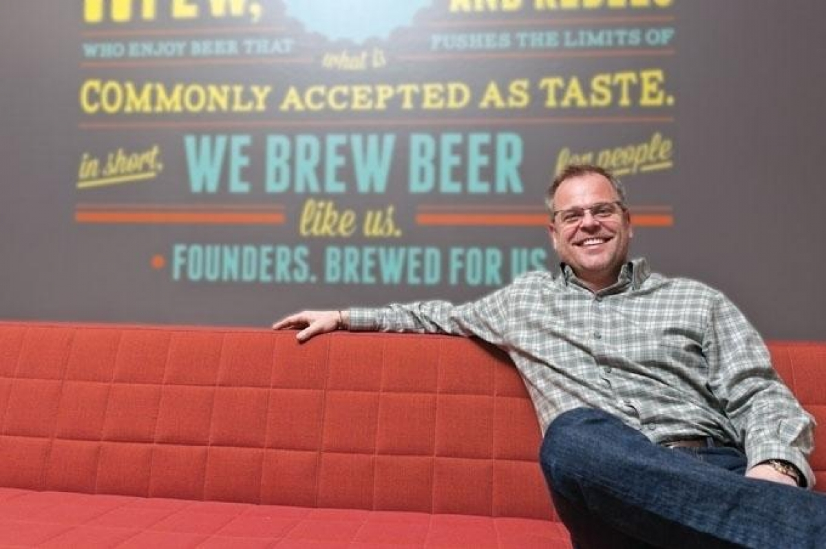 Mike Stevens, co-founder and CEO of Grand Rapids-based Founders Brewing Co.