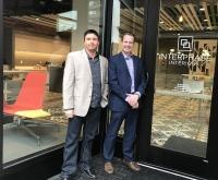 Johnny Brann, left, and Dave Shaffer, right, acquired Interphase Interiors Inc.